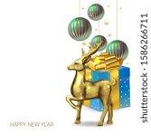 christmas banner  realistic...   Shutterstock .eps vector #1586266711