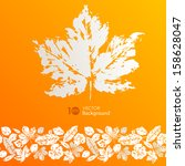 autumn leaves. abstract vector... | Shutterstock .eps vector #158628047