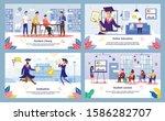 modern college  university...   Shutterstock .eps vector #1586282707
