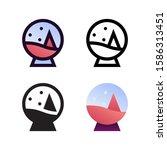 globe snowball logo icon design ...