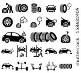 auto repair icons | Shutterstock .eps vector #158632409