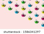colorful baubles christmas... | Shutterstock . vector #1586341297