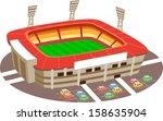 stadium. fun cartoon map... | Shutterstock .eps vector #158635904