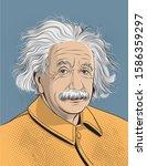 Albert Einstein Portrait In...
