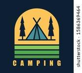 simple logo badge camping... | Shutterstock .eps vector #1586369464