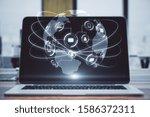 creative designer desktop with...