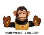 Vintage Mechanical Monkey Toy...