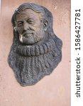Small photo of Rhonda, Spain; Nov 2018 - Ernest Hemingway sculpture in Paseo de Blas Infante, Spain, Europe