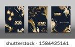 design of golden new year 2020...   Shutterstock .eps vector #1586435161