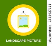 landscape photography icon  ... | Shutterstock .eps vector #1586437111