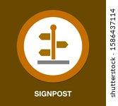 street pointer icon   street... | Shutterstock .eps vector #1586437114