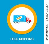free shipping icon  delivery...   Shutterstock .eps vector #1586438164