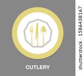 knife and fork icon  cutlery... | Shutterstock .eps vector #1586438167