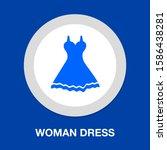 vector elegant woman dress... | Shutterstock .eps vector #1586438281