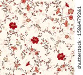 seamless pattern with spring... | Shutterstock . vector #1586479261