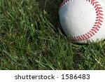 Baseball Against A Grass...