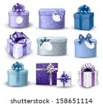 set of colorful gift boxes with ... | Shutterstock .eps vector #158651114