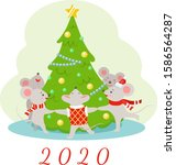 Vector Illustration Of New Year ...