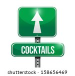 cocktails road sign... | Shutterstock . vector #158656469