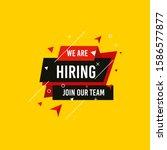 we are hiring  join now design...   Shutterstock .eps vector #1586577877