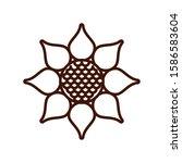 beautiful sunflower garden... | Shutterstock .eps vector #1586583604