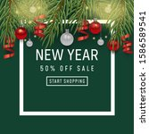 holiday background happy new... | Shutterstock .eps vector #1586589541