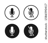 microphone icon button set.... | Shutterstock .eps vector #1586590417