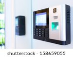 keypad for access control | Shutterstock . vector #158659055