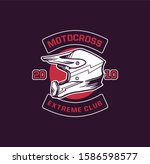 motocross extreme club. design...   Shutterstock .eps vector #1586598577