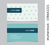 business card template  blue... | Shutterstock .eps vector #158661221
