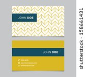 business card template  yellow... | Shutterstock .eps vector #158661431