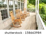 rocking chairs invite one to... | Shutterstock . vector #158663984