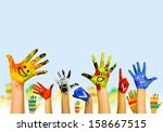 image of human hands in... | Shutterstock . vector #158667515