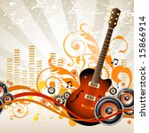 musical background | Shutterstock .eps vector #15866914
