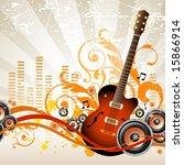 musical background | Shutterstock .eps vector #15866914