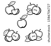 apple set. collection icons... | Shutterstock .eps vector #1586706727