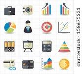 business finance money graph... | Shutterstock .eps vector #158675321