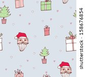 santa claus background  new... | Shutterstock .eps vector #158676854