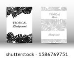 tropic covers set. colorful... | Shutterstock .eps vector #1586769751