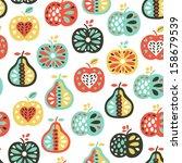 apple seamless pattern | Shutterstock .eps vector #158679539