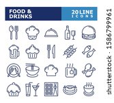 food and drinks icons.... | Shutterstock .eps vector #1586799961