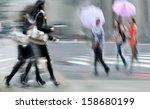 business people walking in the... | Shutterstock . vector #158680199