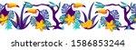 seamless horizontal border with ...   Shutterstock .eps vector #1586853244