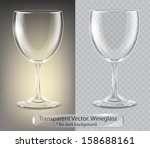 transparent vector wineglass...