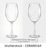 transparent vector wineglass... | Shutterstock .eps vector #158688164