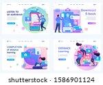 set 2d flat concepts distance... | Shutterstock .eps vector #1586901124