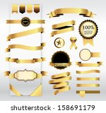 gold ribbon with tag | Shutterstock .eps vector #158691179