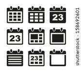 calendar icons set. | Shutterstock .eps vector #158692601