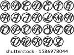 alphabet earrings   earring... | Shutterstock .eps vector #1586978044