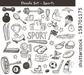 doodle sports. vector... | Shutterstock .eps vector #158701175